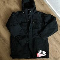 svart zip-up windbreaker jackajacka