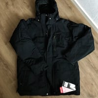 svart windbreaker zip-up jacka