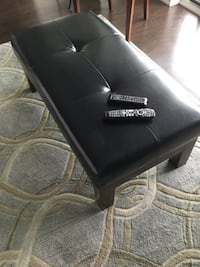 black leather look bench/coffee table Toronto, M9A 4S4