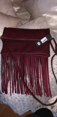 women's red fringed leather crossbody bag Surrey, V3T 5S8