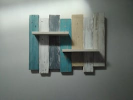 Handmade Wall Art with shelves