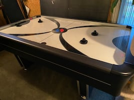 Sportcraft turbo 84-Inch Air powered Hockey Table with Ping Pong Board