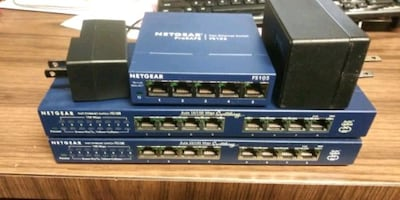 3 Ethernet Switches oem power adapters