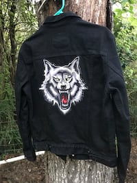 Like new Levi's jacket with wolf patch