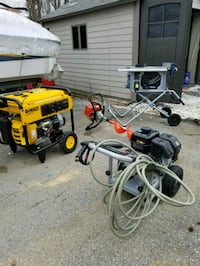Generator, Pwr washer, Portable Table Saw, Auger Herndon, 20170