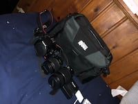 black Canon DSLR camera with bag Hyattsville, 20783