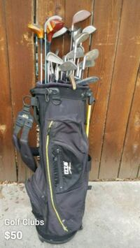 Golf clubs with black and gray golf bag  Palm Desert
