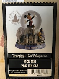 Walt disney glass music globes collection