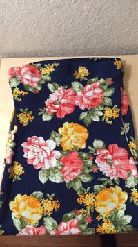 black, yellow, and red floral textile Medley, 33178