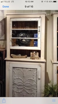 white wooden framed glass display cabinet Montréal, H1E 3C5