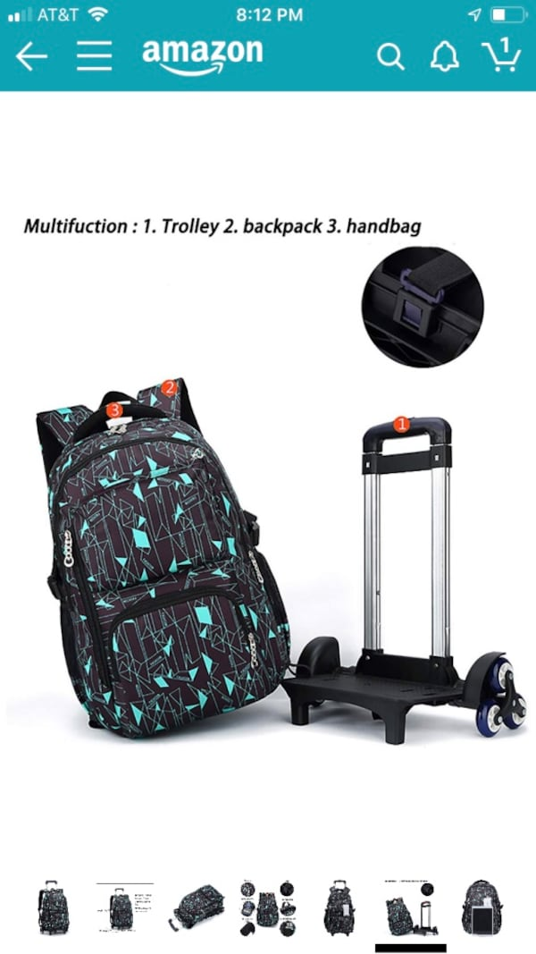 New Rolling backpack/luggage 6 wheels for staircases 041e1782-712c-40a2-9d6c-b71d6f07c6a0
