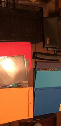 several assorted-color binder