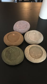 Sandstone pillar candle holders. $3 each or all 5 for $10 Arlington, 22202