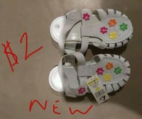 white and pink floral leather sandals Amarillo, 79109