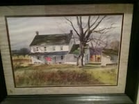 painting of brown house with brown wooden frame Severn, 21144