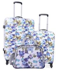 White, blue, and pink floral luggage set  East Point, 30344