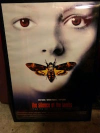 Framed silence of the lambs poster Evansville, 47714