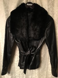 Rare 70's Vintage Leather Jacket With Rabbit Fur Collar Bloomington, 55420
