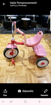 toddler's pink and white trike