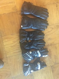 Motorcycle gloves- goretex, leather, carbon sz. 7.5 (sold as set) Arlington, 22206