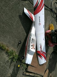 red and white RC plane Kelso