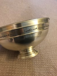 Pottery barn Silver Sentiment Snack Bowl Westwood, 07675
