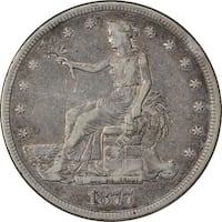 1877-S Authentic US Seated Liberty Trade Dollar/Very Fine Condition New York