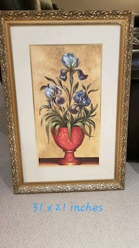 Wall decor painting with frame