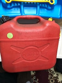 red and yellow plastic container