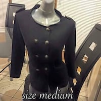 women's size medium black button-up cardigan Alburquerque, 87123