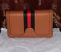 Gucci Brown Red and Green Leather Crossbody bag Lindenhurst, 11757
