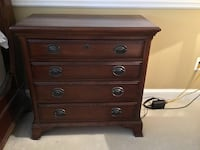 Brown wooden 4 drawer nightstand Fairfax Station, 22039