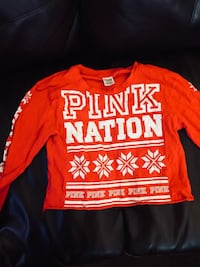 red and white Pink by Victoria's Secret sweater Billings, 59101