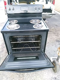 black and gray electric coil range oven 51 km