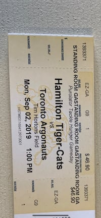 Labour day tickets Hamilton, L8W 3R5