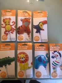 Animal Foil Balloon Party Set (Air Fill Only)