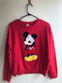 red Mickey Mouse long-sleeved shirt Edmonton, T5A 4J7