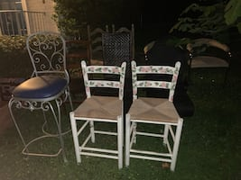 Crafting style hand painted stools