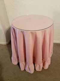 3 Small Round Side / Decorative Tables 2 w/ Cloth  Queen Creek, 85142