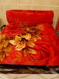 red and brown floral bed sheet Walsall, WS3