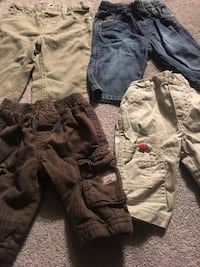 4 Pairs 3-6 Months Boys Pants 638 km