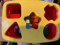 Fisher price shapes box with all the pieces  Mississauga, L5R