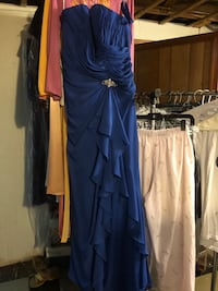 New Size 16 blue gown perfect for bridesmaid or any occasion  Reston, 20190