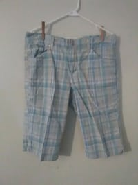 blue and white plaid shorts Mitchell, 47446