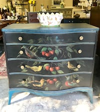 Hand painted birds of a feather dresser Henrico, 23229