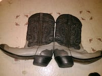 pair of brown leather cowboy boots 1812 mi