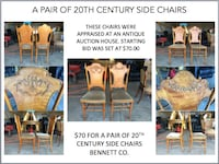 A Pair of 20th Century Side Chairs  DENVER