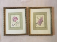 Set of Vintage floral prints with frames Toronto, M5C 2G1