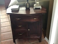 brown wooden 2-drawer nightstand 813 mi