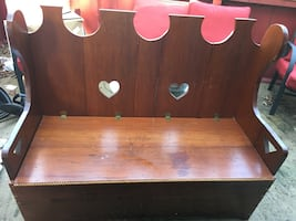 Wooden bench with storage..